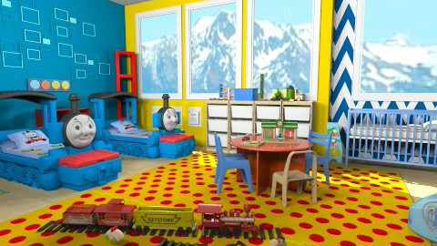 Thomas the Tank Engine - Kids room - by lauren_murphy