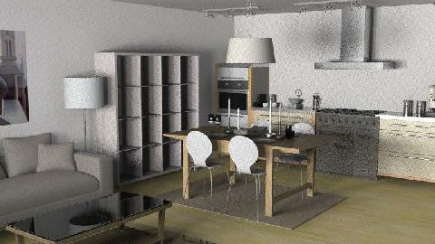 kitchen and dining - by Ya_Lu