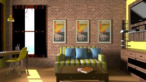 STRIPES - Living room - by mel1808