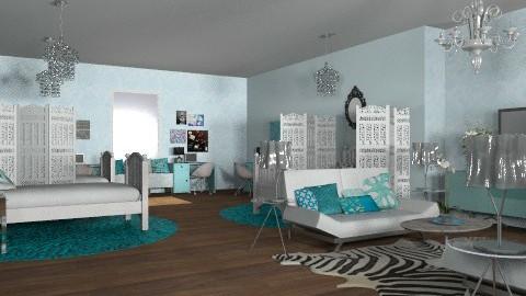 Dorm Room - Glamour - Bedroom - by Rechoppy92