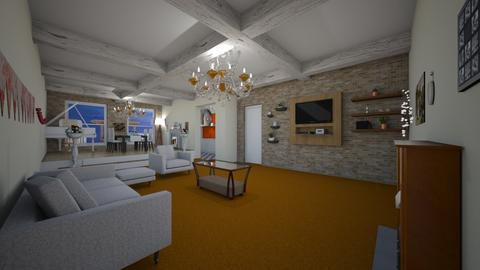 orange with a twist - Living room - by BoutiqueGal101