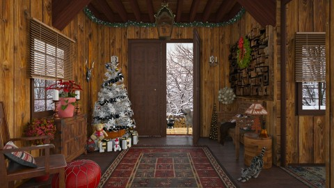 Design 235 Christmas Cabin Welcome - by Daisy320
