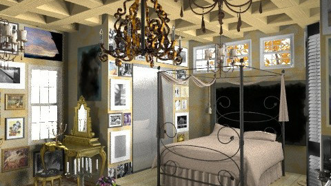 An artist's room - Country - Bedroom - by Your well wisher