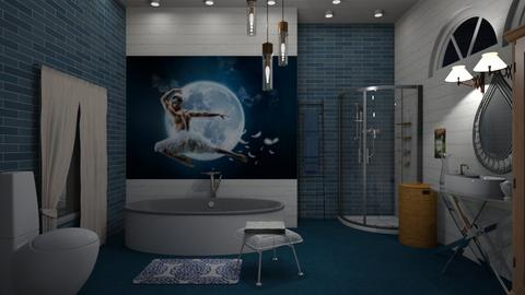 The swan at night - Bathroom - by The quiet designer