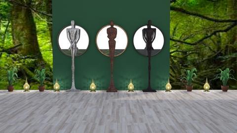 Three Dark Men - Modern - Garden - by BohoCHicc