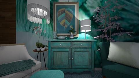 aqua - Living room - by ana111