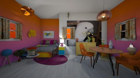 Modern Playful Bedroom - Modern - Bedroom - by deleted_1583724901_Puppystyler