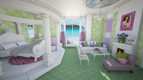 princess bedroom - Bedroom - by Patricia Mari Rosario
