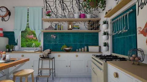 boho kitchen - Modern - Kitchen - by donella