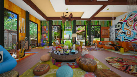 woodstock 1 - Living room - by Fruits
