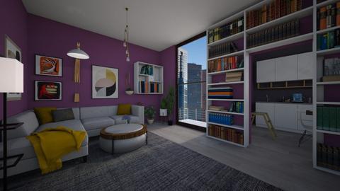 maximalist living room - by niok