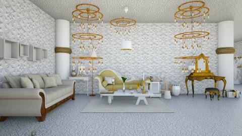 Golden Cream  - Modern - Living room - by InteriorDesigner111