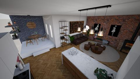 City Appartement - Living room - by Gozome