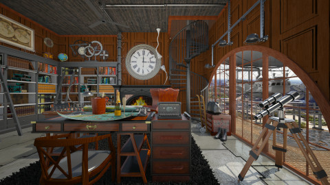 Sky Captain's Holiday - Eclectic - Office - by starsector