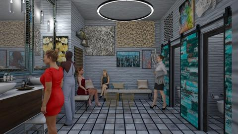 Club bathroom - Bathroom - by Design By Aafira