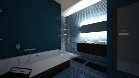BlueAndBlack - Bathroom - by Miss MH