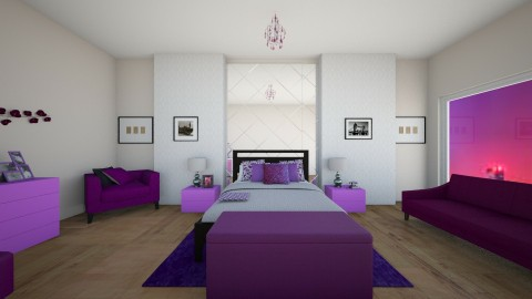 purple x2 - Bedroom - by Rachelt Garcia