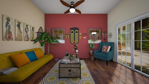 My African House - Living room - by JPOP