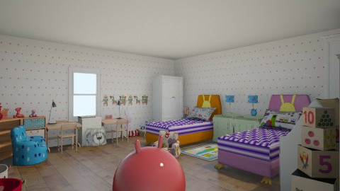 bedroom for 2 kids - Kids room - by Thu Huyen
