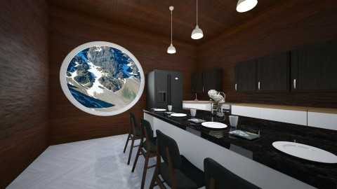 Small Cabin kitchen - Kitchen - by Molly_girl