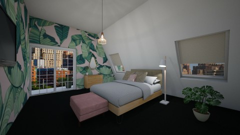 PinkTropical Bedroom - by Anastasija Jovanovic