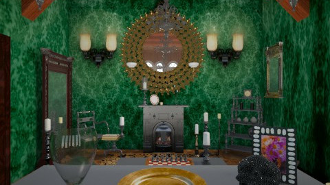 candle light 3 - Vintage - Living room - by donella
