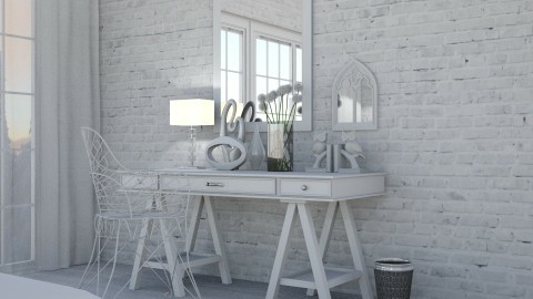 White - Glamour - Bedroom - by Kathran
