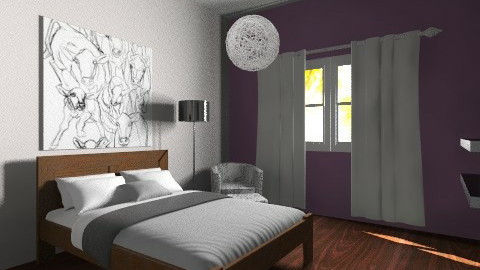 Purple Accent Bedroom - Minimal - Bedroom - by JennyH96
