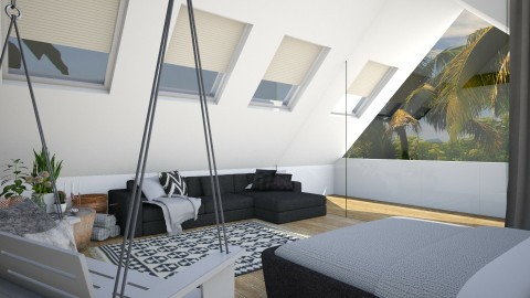 Attic Room - Modern - Bedroom - by StienAerts