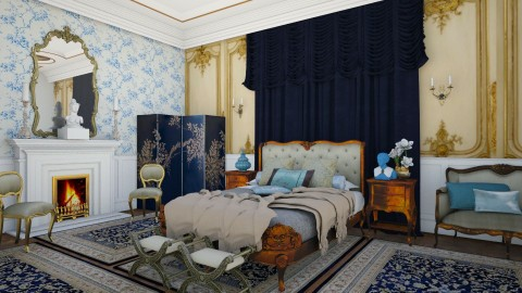 Chateau Bedroom 2 - Glamour - Bedroom - by DeborahArmelin