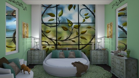 vines - Glamour - Bedroom - by kla