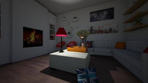 casual living - Living room - by emilyxdesign