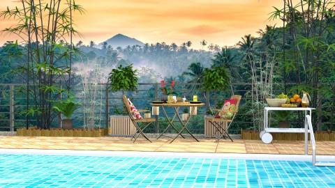 Balinese Morning - Classic - Garden - by katarina_petakovi
