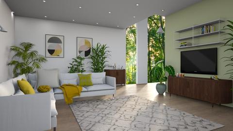 tropical modern - Living room - by siljaj