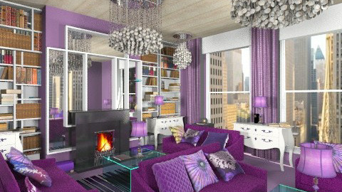 libr purple - Glamour - Living room - by bisertanya