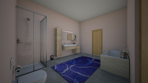 orange bathroom - Bathroom - by Nleisen