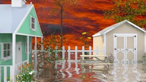 Flooded Land - Country - Garden - by Bibiche