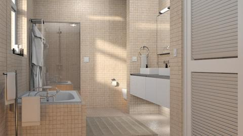 Tiled Bathroom - Bathroom - by GraceKathryn