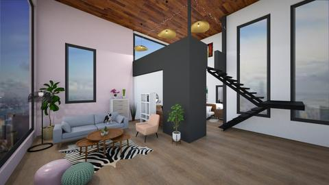 Studio Apartment - Modern - Living room - by pandabearjames