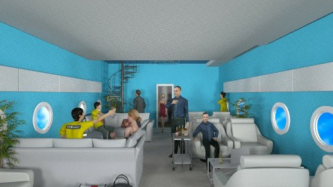 Airplane Lounge - Modern - Living room - by user_2734851