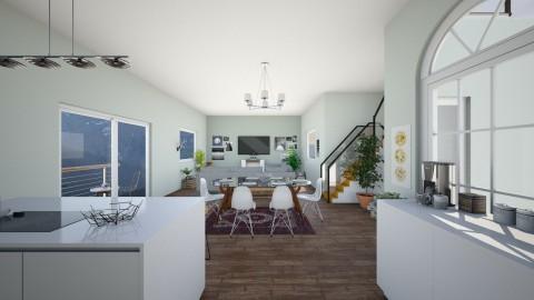 mountain house - Living room - by koskchri