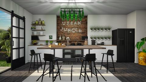 urban jungle kitchen - Kitchen - by miadesign