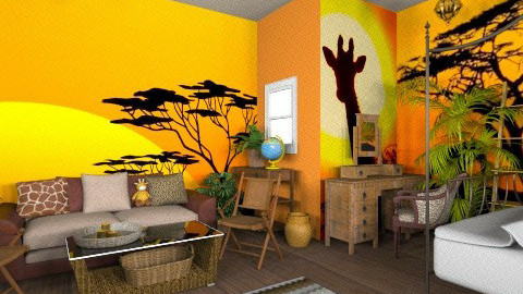 Safari heaven - Bedroom - by cutypie1