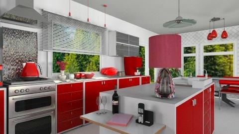 modern red  - Modern - Kitchen - by Brigita_031
