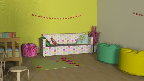 child room - Retro - Kids room - by villanyoszlop