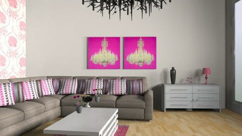 Pink Lounge - Feminine - Living room - by rodyr5
