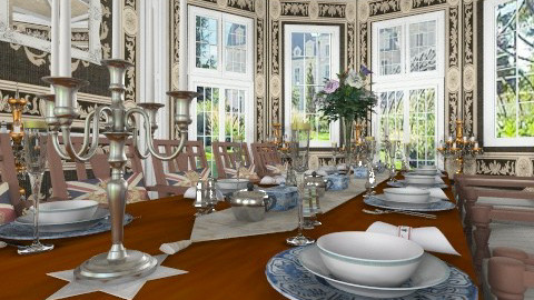 Le Banquet detail - Classic - Dining room - by Bibiche