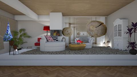 modern living room - by nat mi