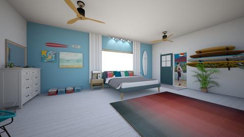 beach bedroom - Bedroom - by equestrian2626