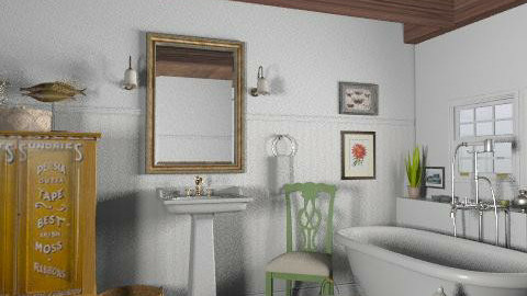 Lakeside Cottage Bathroom - Rustic - Bathroom - by LizyD